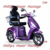 E-Wheels - EW-36 Full-Sized Scooter - 3-Wheel - Purple - PHILLIPS POWER PACKAGE TM - TO $500 VALUE