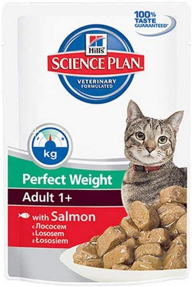 Hill's Science Plan Feline Adult Perfect Weight Salmon 12 x 85 g