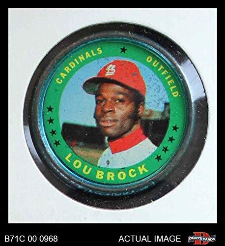 Card Brock Lou Baseball (1971 Topps Coins # 87 Lou Brock St. Louis Cardinals (Baseball Card) Dean's Cards 3 - VG Cardinals)