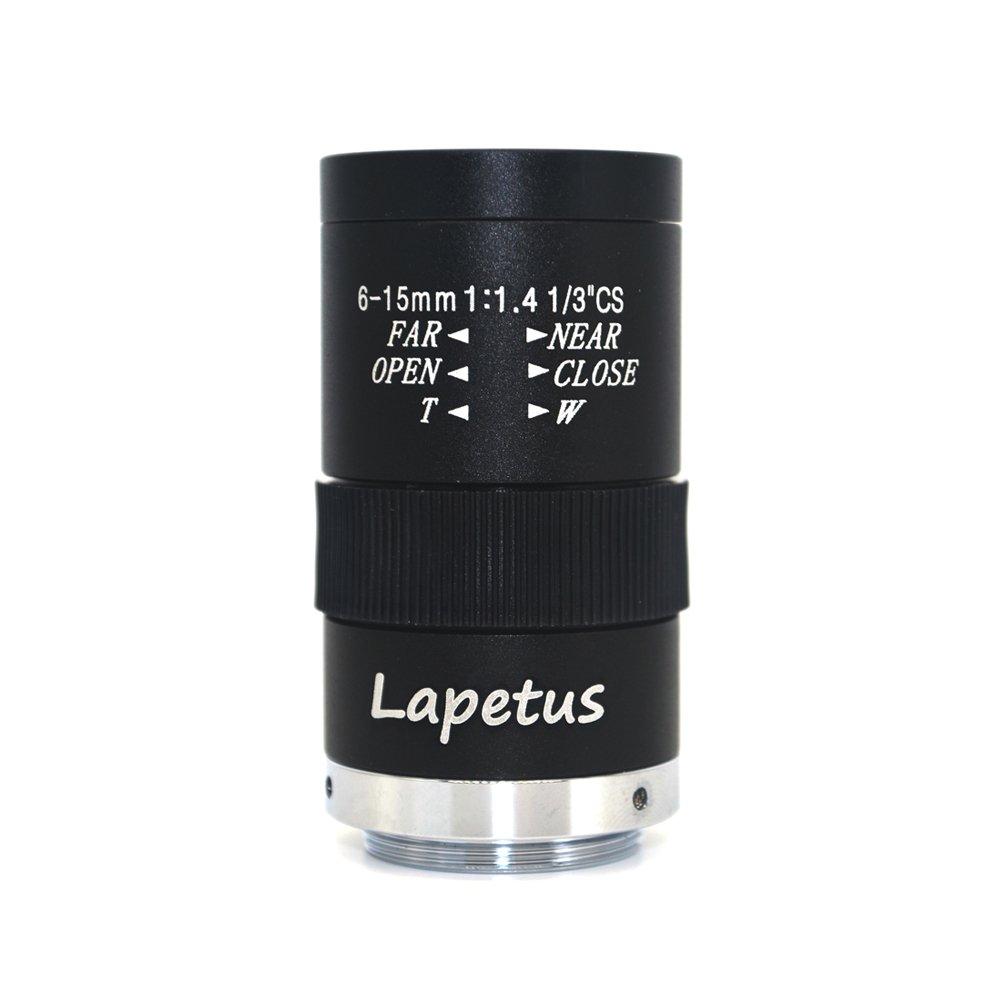 Lapetus 6-15mm 1/3 F1.4 CS Mount Varifocal CCTV Manual Camera Lens by Lapetus