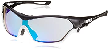 ac60ce50461 Image Unavailable. Image not available for. Colour  Uvex Sportstyle 705  Black-White Glasses 2017
