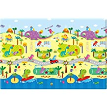 Baby Care Soft Double Sided Play Mat / Protecting Playmat - Dino Sports - Medium