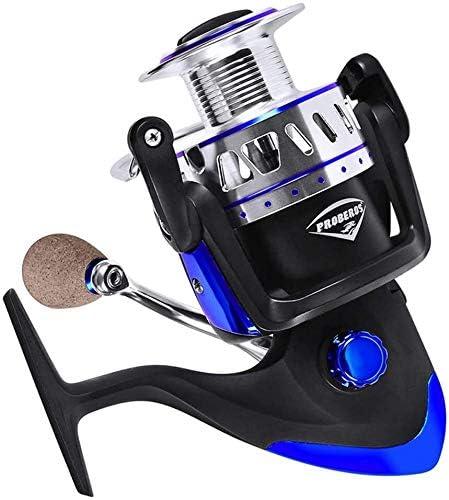 KJRJJZ Carretes Pesca Metal Spinning Wheel 13 + 1BB 5,0: 1 relación de Velocidad Izquierdo y la Mano Derecha Intercambiable de Metal Artes de Pesca (Size : 550series): Amazon.es: Hogar