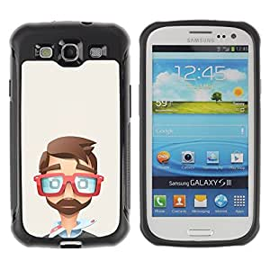 Suave TPU GEL Carcasa Funda Silicona Blando Estuche Caso de protección (para) Samsung Galaxy S3 III I9300 / CECELL Phone case / / cool glasses it developer polygon art /