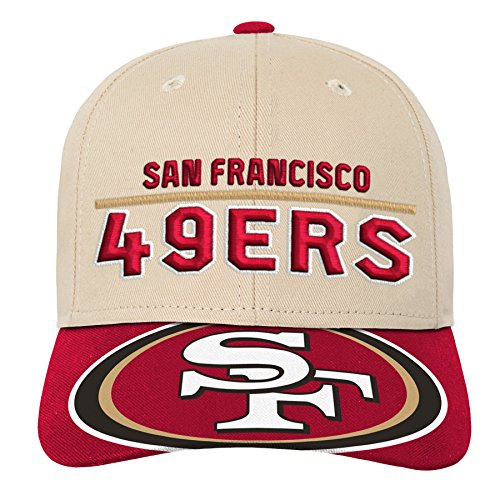 Outerstuff NFL NFL San Francisco 49ers Youth Boys Retro Style Logo Structured Hat Crimson, Youth One Size