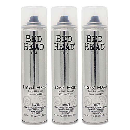 Tigi Bed Head Hard Head Spray 10.6 Oz Each Pack of 3