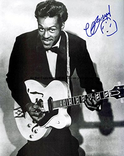 Chuck Berry Memorabilia - Chuck Berry Autographed Preprint Signed 11x14 Poster Photo 1
