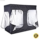 COLIBROX--96''x48''x78'' Indoor Grow Tent Room Reflective Hydroponic Non Toxic Hut, stages of plant growth,stages of flower growth,stages of plant growth for grade