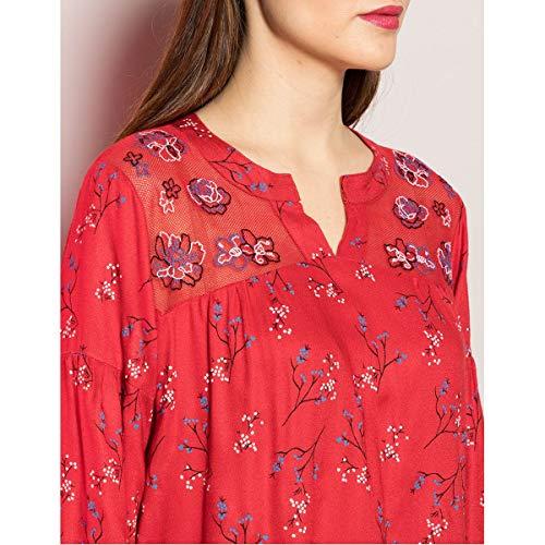 Para Mekong Fiancee Camisas La Du Mujer Rojo f8nWIWAR0