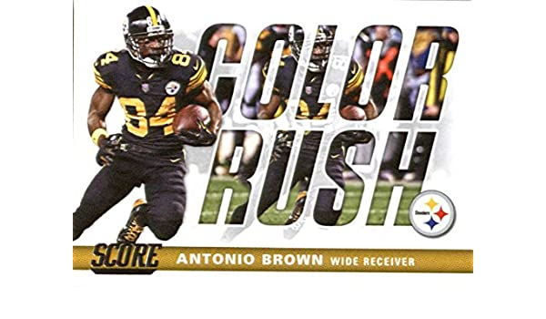 buy popular d5876 ef0d8 Amazon.com: 2017 Score Color Rush #20 Antonio Brown ...