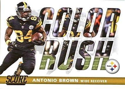 2017 Score Color Rush  20 Antonio Brown Pittsburgh Steelers Football Card 5ca1fad5c