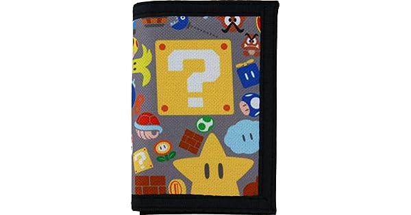 Amazon.com: Super Mario - Cartera triple: Clothing