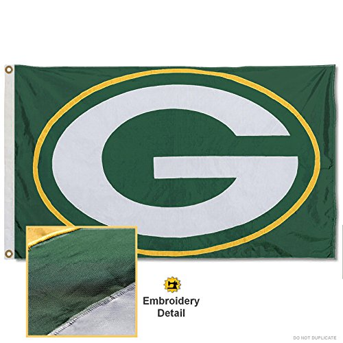 Wincraft Green - WinCraft Green Bay Packers Embroidered Nylon Flag