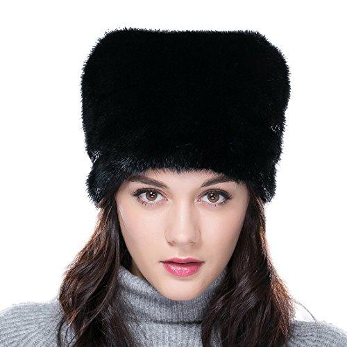 URSFUR Mink Fur Women's Slouchy Hat Brown by URSFUR