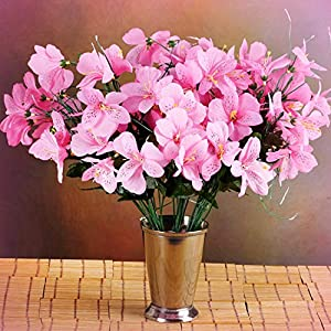 Inna-Wholesale Art Crafts New 6 Pink Bushes Silk Mini PRIMROSES Decorating Flowers Bouquets Decorations Sale - Perfect for Any Wedding, Special Occasion or Home Office D?cor 88