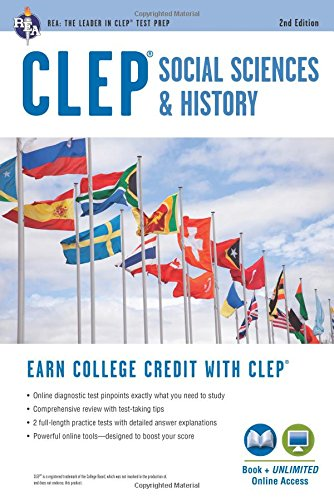 CLEP® Social Sciences & History Book + Online, 2nd Ed. (CLEP Test Preparation)