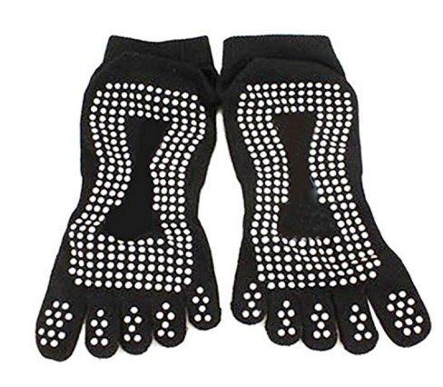 Danapp yoga maglia calzini cinque dita calze collant, Cotone, Blue, 1