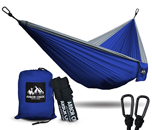 Best Double Camping Hammock by Arbor Creek Outfitters – Extremely Durable and Lightweight  ...