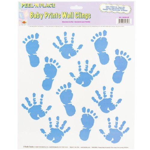 Beistle Company - Baby Prints Wall Clings - Boy