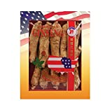 Cheap SKU #0099-8, Hsu's Ginseng Long Jumbo Cultivated American Ginseng Roots (8 oz = 227 gm/box), with one free single American ginseng tea bag, 99-8, 99.8