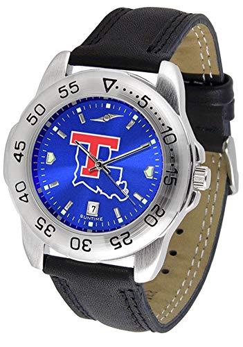 Bulldogs Tech Watch Sport Louisiana (New Linkswalker Mens Louisiana Tech Bulldogs Sport Anochrome Watch)