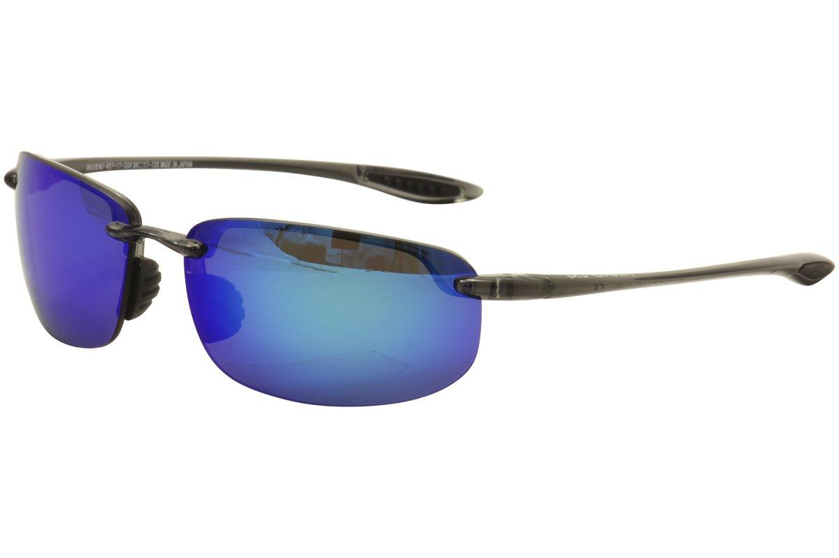 Maui Jim Ho 'okipa偏光サングラス B01H22TEV4  Smoke Grey / Blue Hawaii One Size