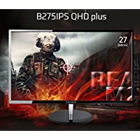 Newsync B275IPS QHD Plus 27 QHD (2560x1440) AH-IPS Gaming Monitor 75Hz, FreeSync, Low Blue Light & Flicker Free, Cross Hair, Game mode, DHCP