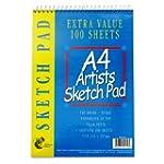 A4 artist sketch pad 100 sheets SS520-24