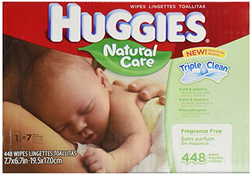 Huggies Natural Unscented Wipes Refill