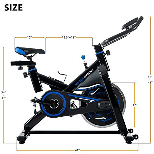 Merax S306 indoor Cycling Bike Cycle Trainer Exercise Bicycle (Blue)