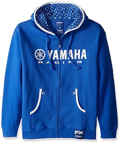 Factory Effex 12-88420  'Yamaha Racing' Hooded Zip-up Sweatshirt (Blue, Medium) ()