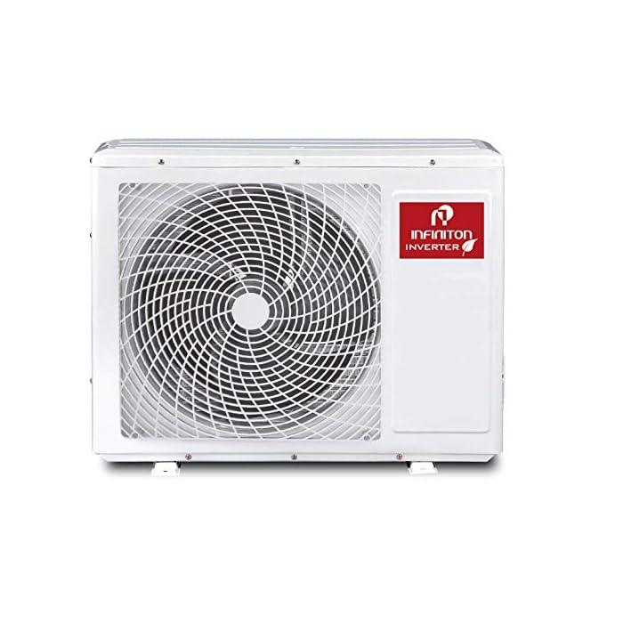 515qJ92raUL 3500 FRIGORIAS Aire acondicionado SPLIT-3720MU Infiniton tiene una clasificación energética A++ gracias a la cual percibirás un importante ahorro en tu factura de la luz. iClean auto-limpieza - Función ECO - Función ECO - Deshumidificador La temperatura indicada en el exterior del aire acondicionado Infiniton se muestra a través de LED y el sensor se encuentra en el control remoto.