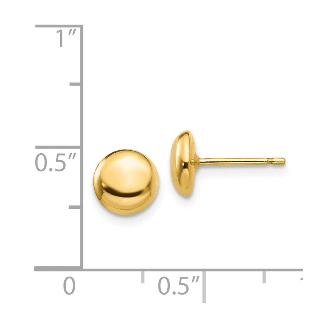 ea7840234 Amazon.com: 14k Yellow Gold Half Ball Post Stud Button Earrings Fine  Jewelry Gifts For Women - Valentines Day Gifts For Her: Stud Earrings:  Jewelry