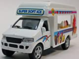 pull back ice cream truck - Kinsmart Route 88 Soft Ice Cream Vending Camper 1/43 O Scale Diecast Truck