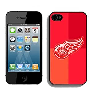 NHL Detroit Red Wings Iphone 4 or Iphone 4s Case High Quality By zeroCase