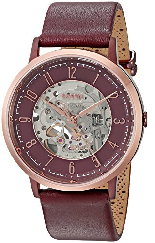 Fossil Women's ME3137 Vintage Muse Automatic Wine Leather Watch