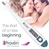 Clinical Basal Thermometer - BBT-113Ai by iProvèn - ACCURATE 1/100th Degree, Highly SENSITIVE, Perfect Companion for Family Planning