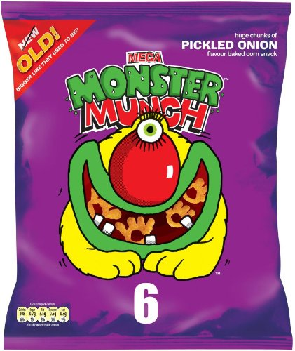 Walkers Monster Munch Pickled Onion - 6 Pack