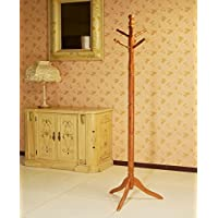 Frenchi Home Furnishing Traditional Wooden Coat Rack Stand, Oak