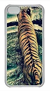 iPhone 5c case, Cute Tiger In Water iPhone 5c Cover, iPhone 5c Cases, Hard Clear iPhone 5c Covers by mcsharks