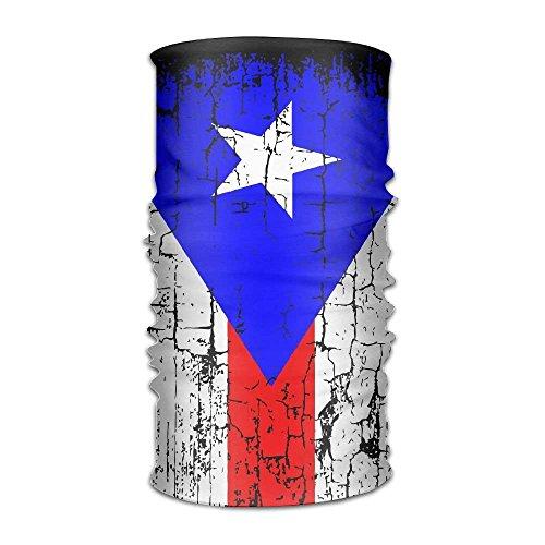 Bandana Headband Athletic Vintage Puerto Rico Flag Multifunction Magic Handscarf,Face Mask,Neck Gaiter,Balaclava,Sweatband,Head Wrap,Outdoor Sport UV Resistence.