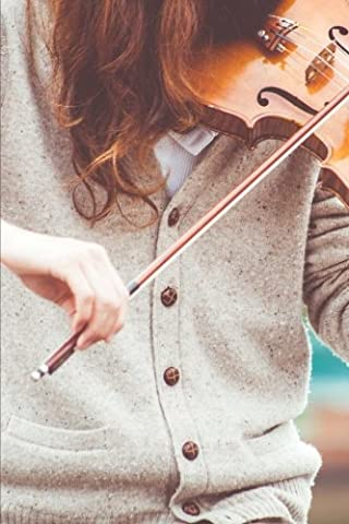 A Girl, Violin, and Bow Musical Instrument Journal: 150 Page Lined Notebook/Diary (Violin Practice Notebook)