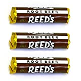 Reed's Classic Root Beer Hard Candy 3 Pack - Individually Wrapped - Since 1893