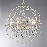 Cheap Whse of Tiffany RL6806B-16AB White Rosielee 16-Inch Chandelier, White