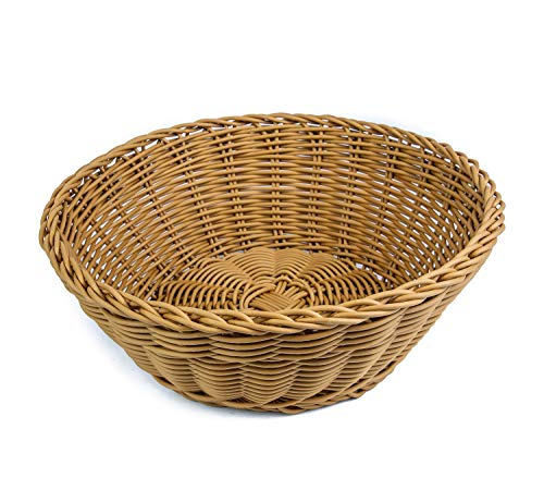 Wicker Bread - KOVOT Poly-Wicker Round Basket - 10.5