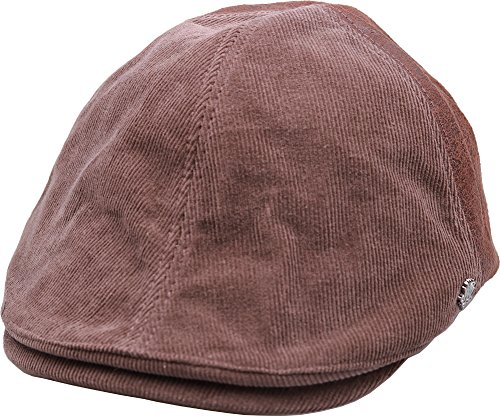 sujii CORDUROY Newsboy Beret Flat Cap Cabbie Driver Hat Ivy Cap /Brown
