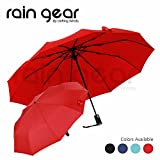 Rain Gear: Premium Quality Umbrella Windproof, Small, Light n Compact Umbrella, Easy Folding, Automatic Open/Close with Carrying Pouch. Most ideal as Travel Umbrella, Golf or Outdoors In Any Weather.