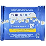 Natracare Feminine Intimate Wipes Organic 12 Count