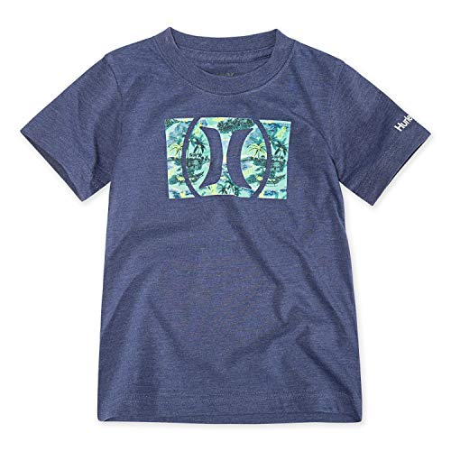 Hurley Boys Icon Graphic T-Shirt, Delft Heather/Tropical, L