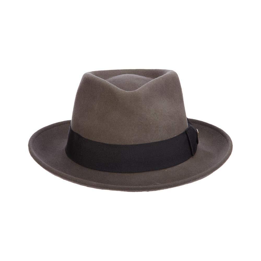 Scala Classico Men s Crushable Water Repelant Wool Felt Fedora Hat ... da375d5478b0